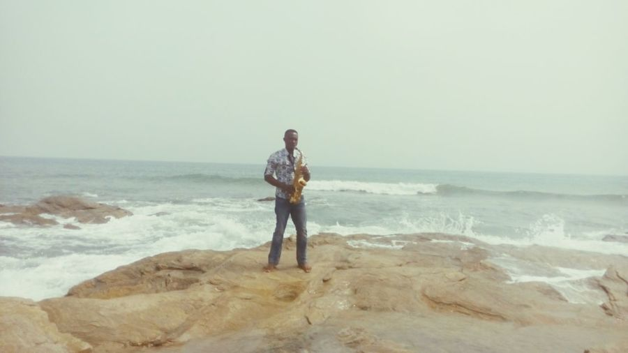So that's where i decided to have my first Sax lesson with my new student. Music Teaching Music Saxophone Sax Beach Sea Sea And Sky