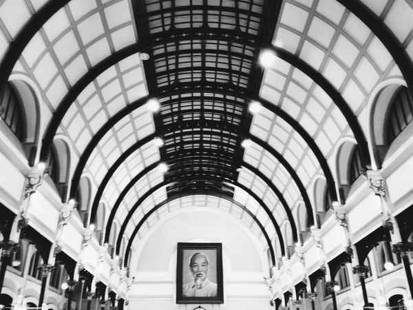 Ho Chi Minh - Vietnamese God Architecture Black And White IPhoneography Landmark