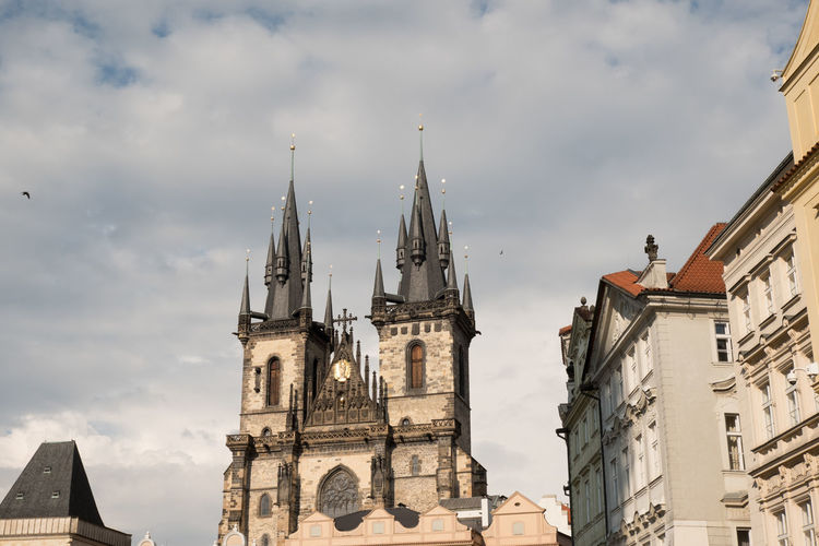 Church of Our Lady Before Tyn in Old Town Square, Prague. Church of Our Lady Before Tyn overlooking Old Town Square, warm natural light from the sun. Architecture Church Of Our Lady Before Tyn Old Town Square, Prague Prague Prague Czech Republic Prague♡ Architecture Building Exterior Built Structure Cloud - Sky Day Low Angle View No People Old Town Square Outdoors Place Of Worship Religion Religious Architectural Sky Spirituality