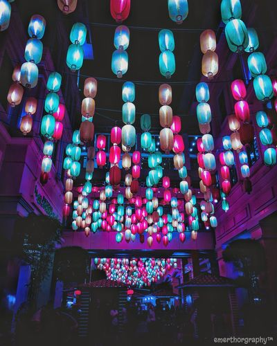 ...just enjoying the view😉📸 Illuminated Lighting Equipment Multi Colored Low Angle View Indoors  Pattern No People Night Architecture