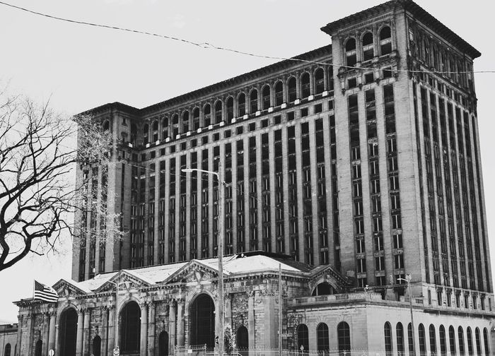 Detroit Michigan Train Station Old Buildings Tadaa Community EyeEm Best Shots - Black + White Saynicethings