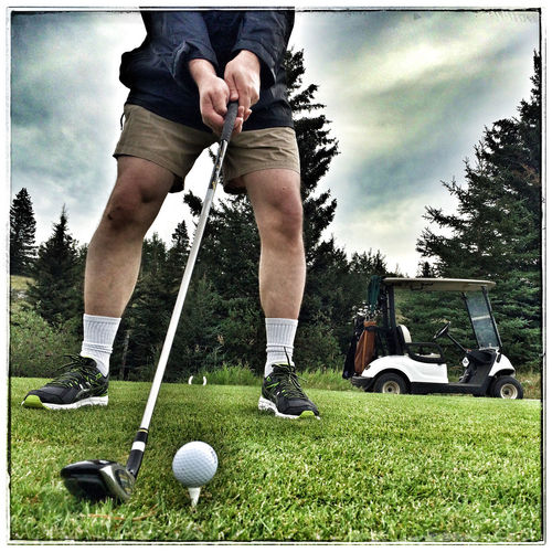 Thursday on the links - needs par. Iphone 5 Project 365 Photo Of The Day That's Me Golfing Self Portrait