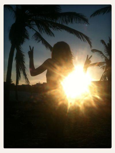 Enjoying The Sun Taking Photos Sunset_collection Tropical