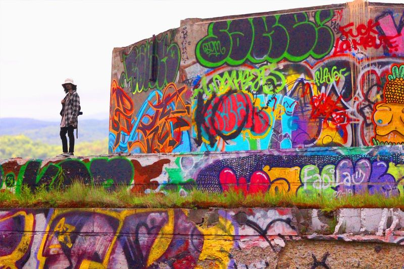 Urbex Multi Colored Painted Image Street Art Men Young Women Youth Culture Women Graffiti Art And Craft Spray Paint Paint Can Mural Vandalism Painter - Artist