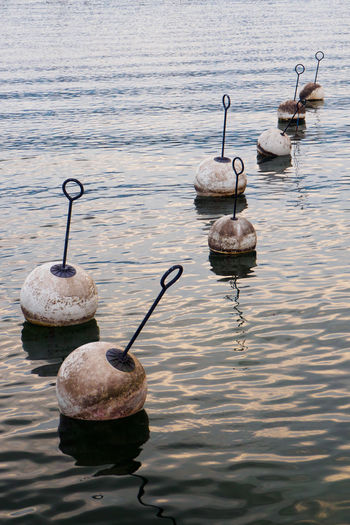 Buoy Buoy On The Water Buoys In The Water Day Lake Nature No People Outdoors Water Waterfront The Great Outdoors - 2017 EyeEm Awards