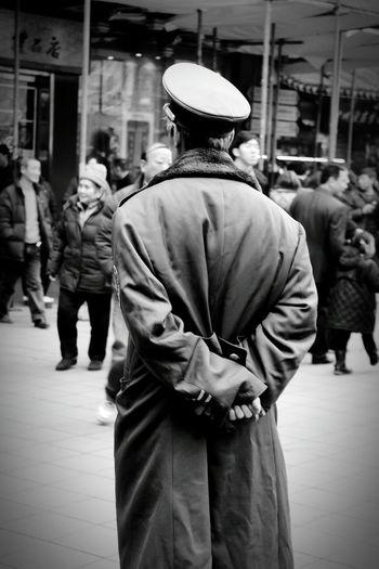 Man standing in city