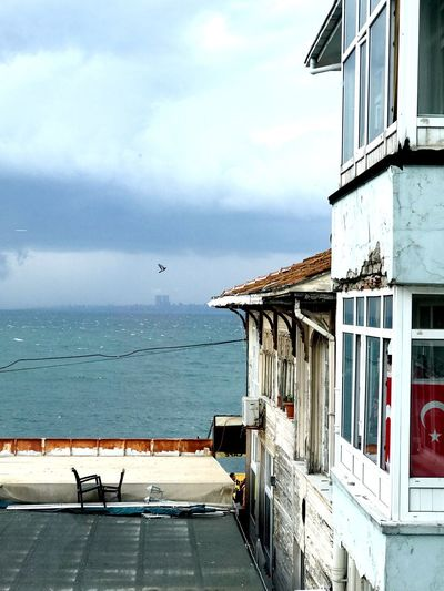 Büyükada Princess Island Jetty Old Wooden Building Wooden Cloud Day Sea Sky Built Structure Day Building Exterior Horizon Over Water Architecture Water No People Cloud - Sky Outdoors Bird Nature Animal Themes Scenics Beauty In Nature EyeEm Selects Shades Of Winter