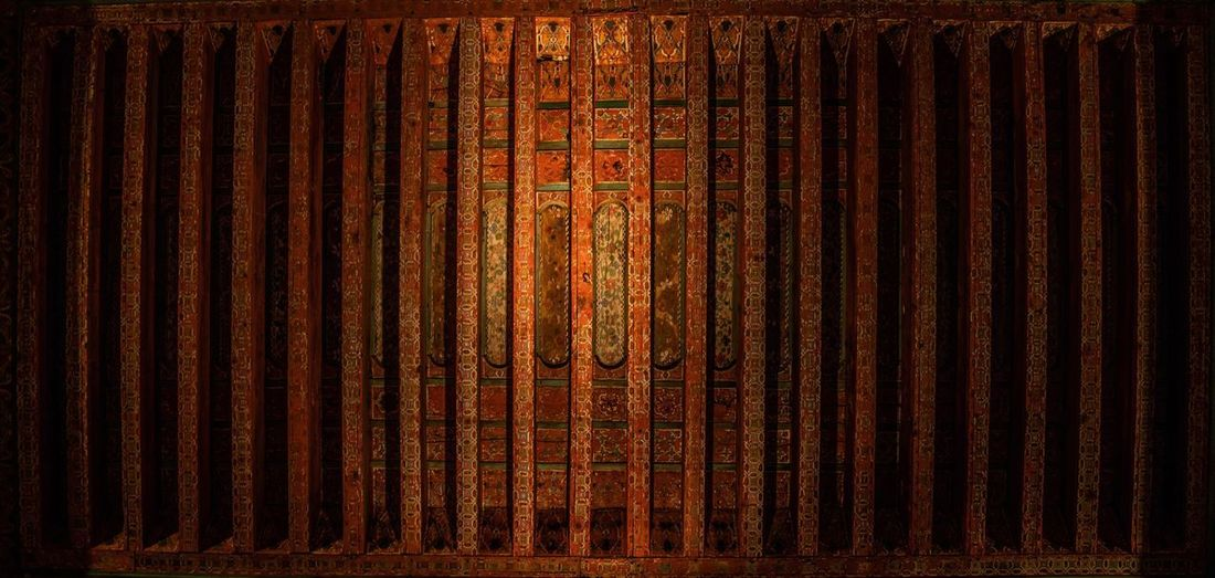 Mosque Ceiling Art Full Frame Backgrounds Pattern Textured  No People Indoors  Brown Wood - Material Architecture