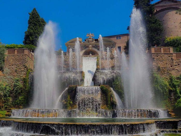 Water Fountain Roma Italy Neptune Fountain Garden Photography
