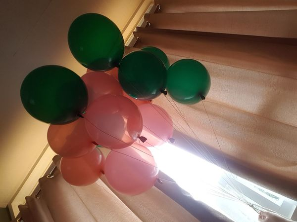 Eyeem Philippines Pink Architecture Balloon Balloons Ceiling Childhood Close-up Day Helium Balloon Indoors  Low Angle View Mobilephotography Multi Colored No People