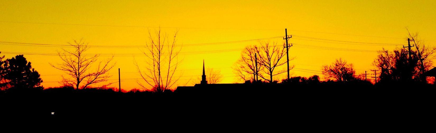 Sunset in Virginia Sunset Sky Yellow Virginia