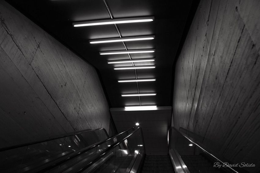 Bahnhof-Station Steps And Staircases Indoors  Built Structure Architecture Basel, Switzerland Canonphotography Phtotography Black And White