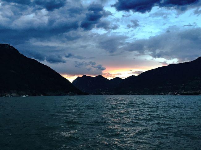 Sky Iseo Lake Sulzano Tramonto Lago D'Iseo