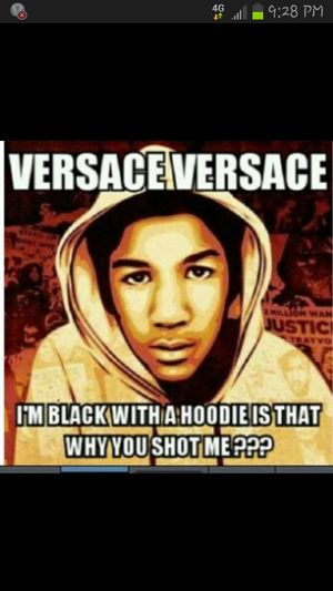 that nigga zimmerman got off with not being guilty tf shit they let him off easy R.I.P Trayvon Martin