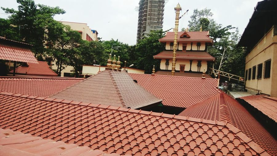 Clicked today using my Sony Xperia C5 the roof view of Ayyappa Templeat Vartak Nagar, Thane West