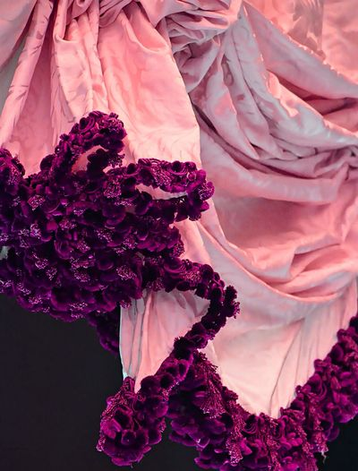Ornate pink drapes with frills Close-up Draped Draped Fabric Fabric Frilly Ornate Pink Color Pjpink Textile