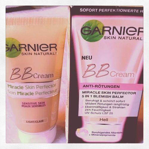 Let's see, if it works for me! Thanks to @garnierdeutschland ☆ Ich nehme an, Sensitive Skin ist identisch mit Anti-Rötungen? Garnierdeutschland Bbcream  Skincare Prsample bblogger beautyblogger blogger garnierbbcream