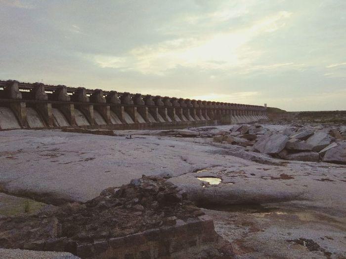 Dam Sunset Evening Dam Gates Dry Dam Water Sky Hydroelectric Power Reservoir Water Conservation
