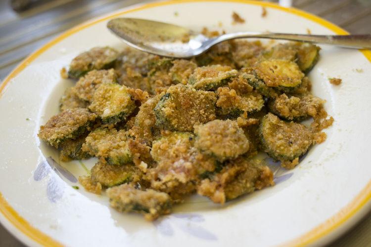 gratineed zucchini Breadcrumb Breaded Courgette Gratin Gratineed Sliced Slices Zucchini