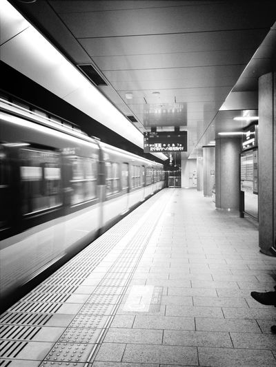 Subway Blackandwhite Train