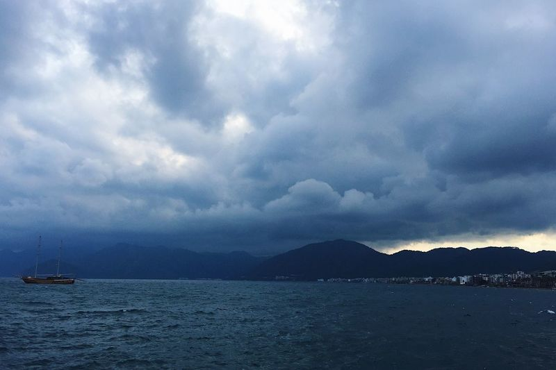 Stormy day in in Marmaris, Turkey Beautiful Beauty In Nature Blog Cloud - Sky Clouds Marmaris Nature Nature Nautical Vessel Scenics Sea Sky Spring Storm Tourism Tourism Destination Tourist Tourist Attraction  Travel Travel Blog Travel Destinations Turkey Water Windy