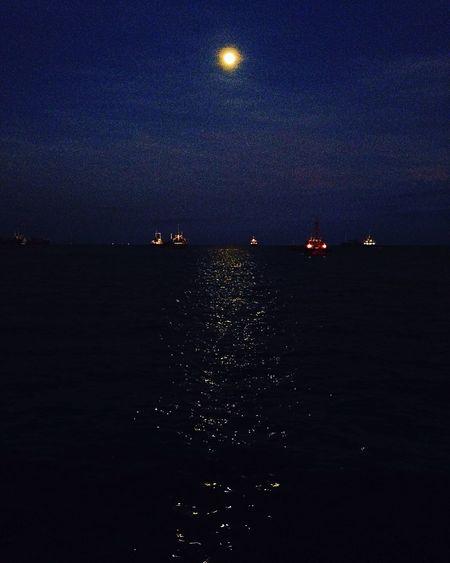 Moonlight Nightsky Sea And Sky