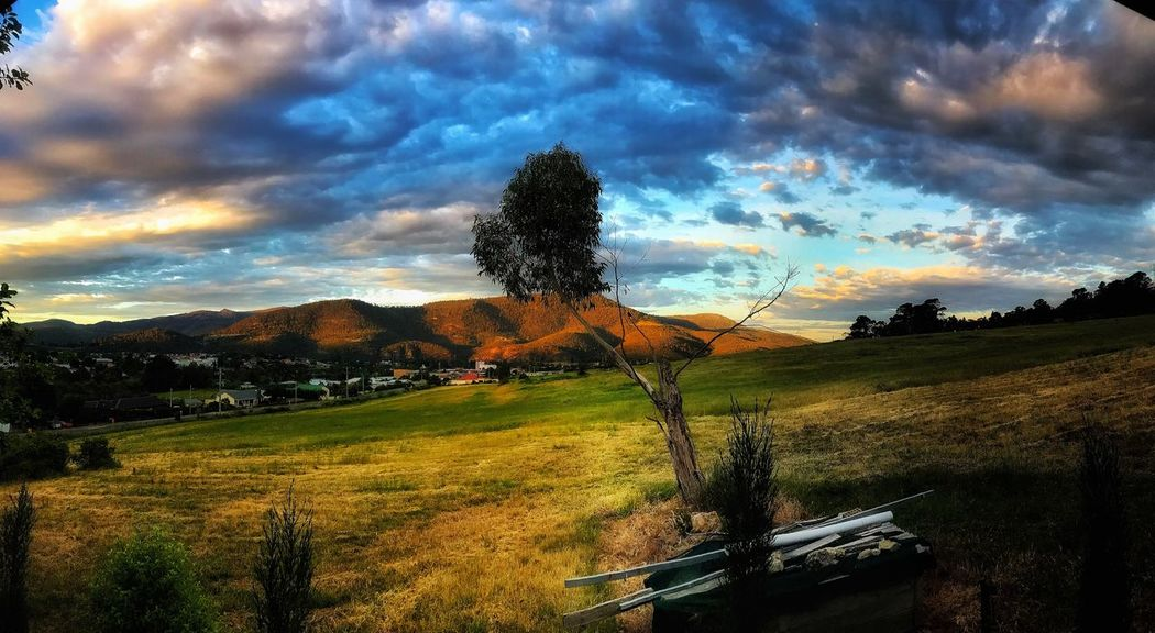 Derwent Valley Tasmania Cloud - Sky Sky Plant Tree Water Nature Beauty In Nature Sunset Tranquility Scenics - Nature Field Land Outdoors