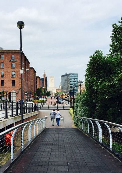 liverpool waterfront Albert Dock Family❤ Architecture Built Structure Building Exterior Sky Railing Day Real People Cloud - Sky Outdoors City Tree Water Women Large Group Of People Men Footbridge People