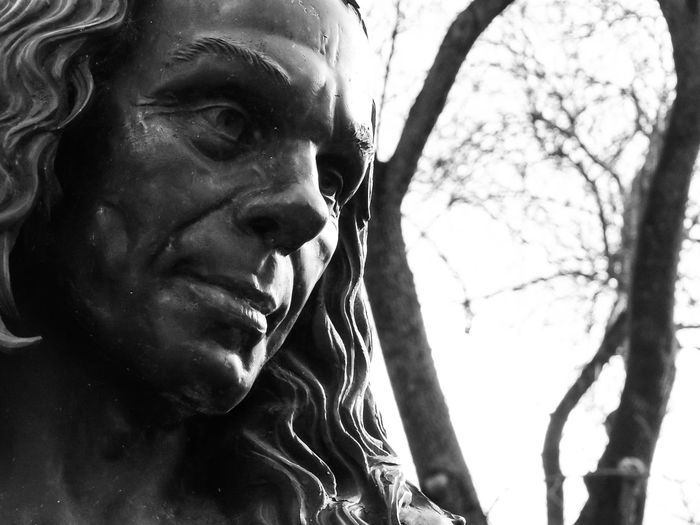 Animal Head  Auto Post Production Filter Branch Cherry Tree Close Up Close-up Confidence  Contemplation Focus On Foreground Happiness Human Body Part One Animal One Person Part Of Person Portrait Ronnie James Dio Selective Focus Serious Statue Twig