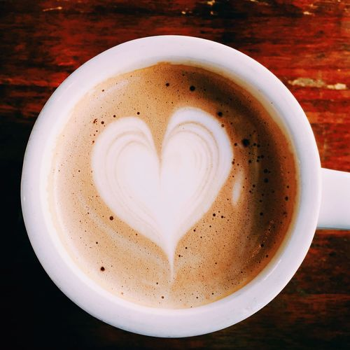 Cafe Coffee Cafe Mocha Latte Art Heart