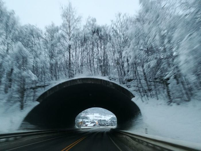 E6 Road Tunnel December Norway Norge Transportation Car Tunnel Road Winter Driving Travel Cold Temperature Day Journey Snow No People Outdoors