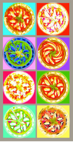 Pizza inspired ba Warhol Collage Composite Image Digital Composite Food Food And Drink Italian Food No People Pizza Pizzahype Pizzaporn SLICE Warhol Inspired