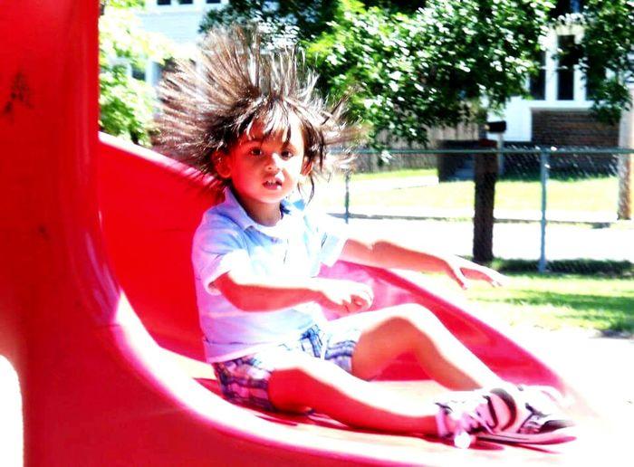 Holyoke, MA Rohan Park Playground Static Hair