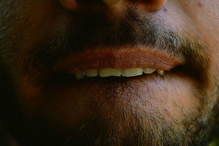 Cropped Image Of Man Mouth