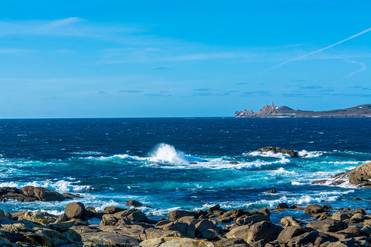 Scenic view of spanish seascape in a sunny day
