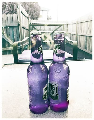 Spirits. (I acknowledge Rolling Rock's Copright and my use is purely for artistic purposes). Spirits Bottles Rolling Rock Colors Purple First Eyeem Photo