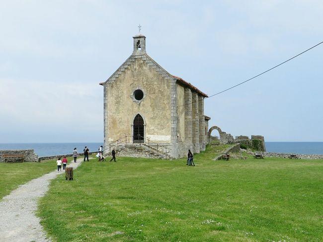 Coastline Church People Grey Sky Seaside Stairs Bell Iglesia Campana La Costa Gente