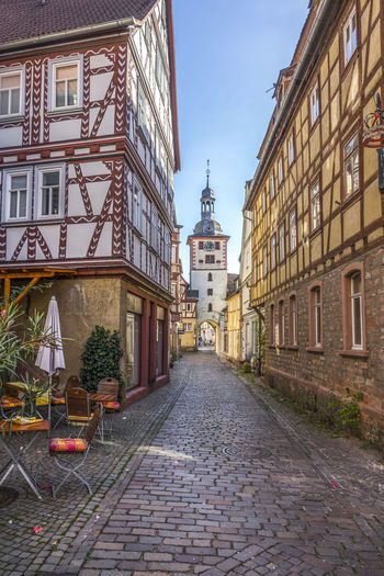 EyeEm Best Shots Klingenberg Am Main Old Town Alley Architecture Building Building Exterior Built Structure City Cobblestone Day Direction Eyeemgermany Footpath House Nature No People Outdoors Plant Residential District Sky Street The Way Forward Transportation Window