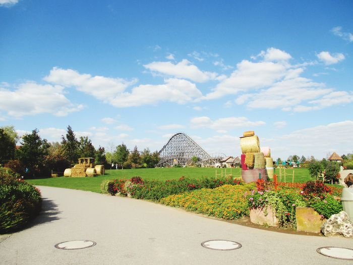 Tripsdrill coaster Tripsdrill Architecture Sky Cloud - Sky Built Structure Day Outdoors No People Tree Nature