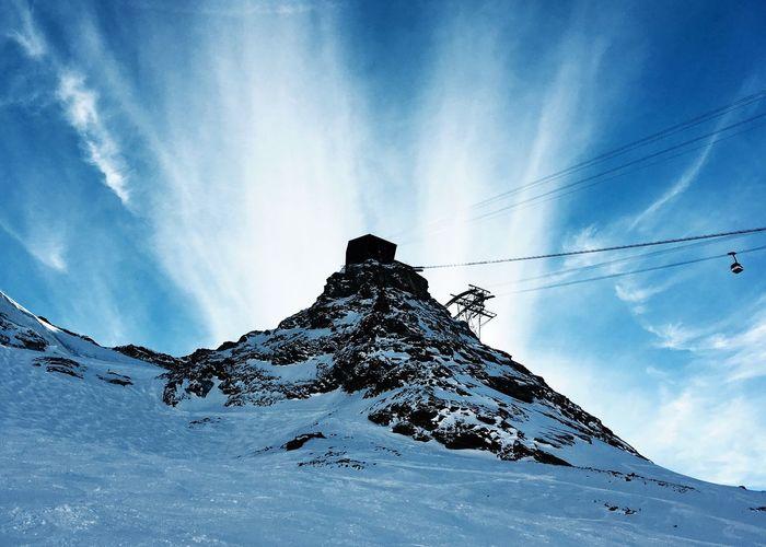 Snow Sky Cold Temperature Winter Mountain Scenics Blue Cloud - Sky Outdoors Cable Car