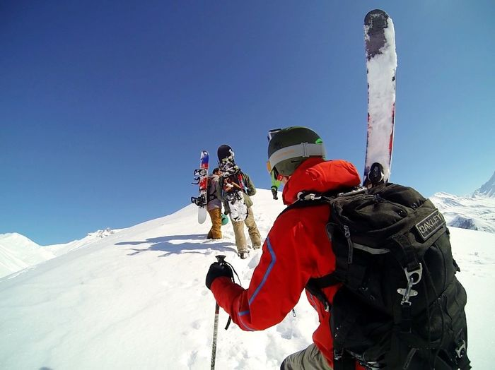 Adventure Buddies still be awesome when you're on a nice way ! La Grave France Skiing Ski Snowboarding Mountains Mountain View Alpes Adrenaline Junkie Hello World Hanging Out