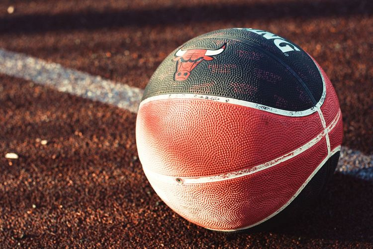 Basketball Basketball Sport Ball Close-up Focus On Foreground American Football - Sport American Football - Ball No People Outdoors Single Object Sphere Day Sports Equipment Still Life Pattern Brown Team Sport Competition Playing Field Nature