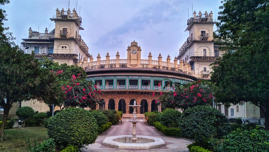 View of british empire india building in gwalior city