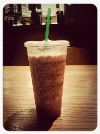 mocha cookie crumble frap w/ 3 espresso shots...finals fuel.