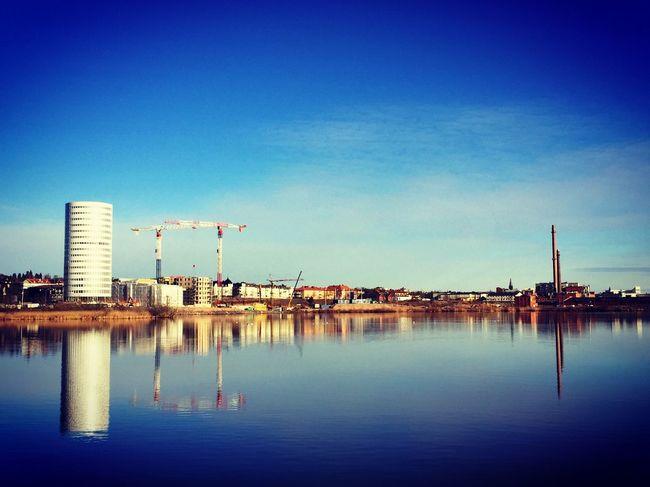Ny stadsdel under uppbyggnad Check This Out Hello World Munksjön Taking Photos Munksjöstaden Jönköping,Sweden Enjoying Life Morgon