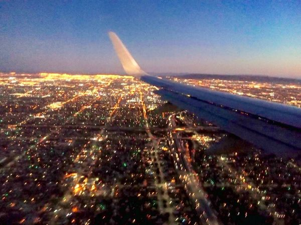 La:Spectacular]pectacular La Los Angeles, California From The Plane Window View Traveling