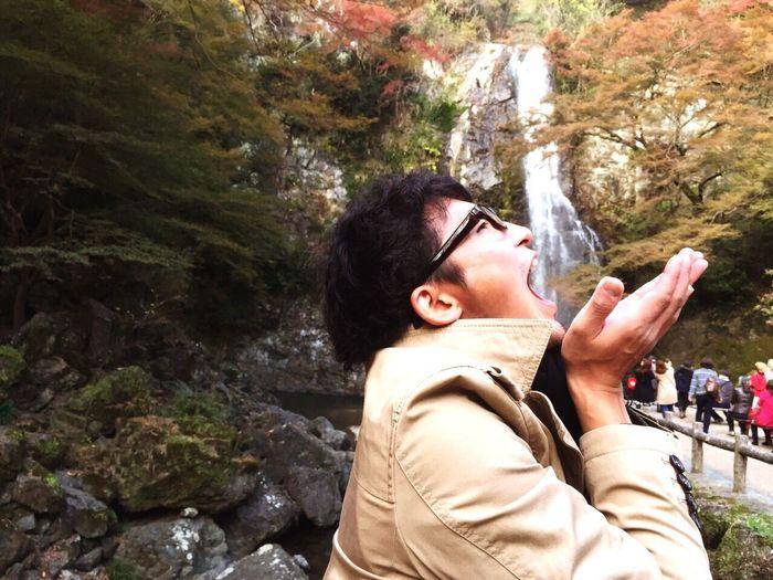 Husband Love 箕面の滝 Happy 夫婦旅