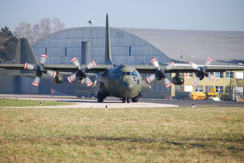 Air Vehicle Airplane Austrian Airforce Day Hercules Military Military Airplane No People Propeller Airplane Propeller Plane Transportation