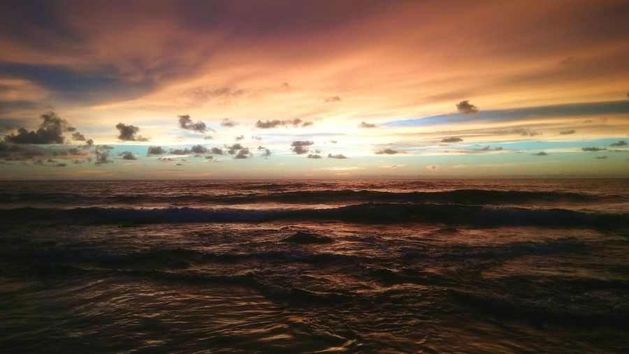 Bolinao's Sunset Beach Horizon Over Water Sky Sunset Beauty In Nature Travel Destinations Dramatic Sky Vacations Tranquil Scene Travelphotography First Eyeem Photo Eeyemphilippines Eeyem Photography Philippinebeaches Eyeem Philippines