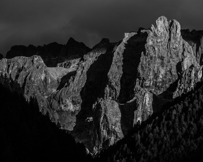 Dark light The Great Outdoors - 2019 EyeEm Awards Sunset Stormclouds Eroded Landscape Sky Rock Hoodoo Rock - Object Cliff Mountain EyeEm Nature Lover Evening Light Dramatic Lighting Majestic Natural Landmark Mountain View Alpine Landscape Alps Alpen Südtirol Dolomites Remote Dramatic Landscape Monochrome Blackandwhite Betterlandscapes Scenics Tranquil Scene Calm Beauty In Nature Paysages Grys